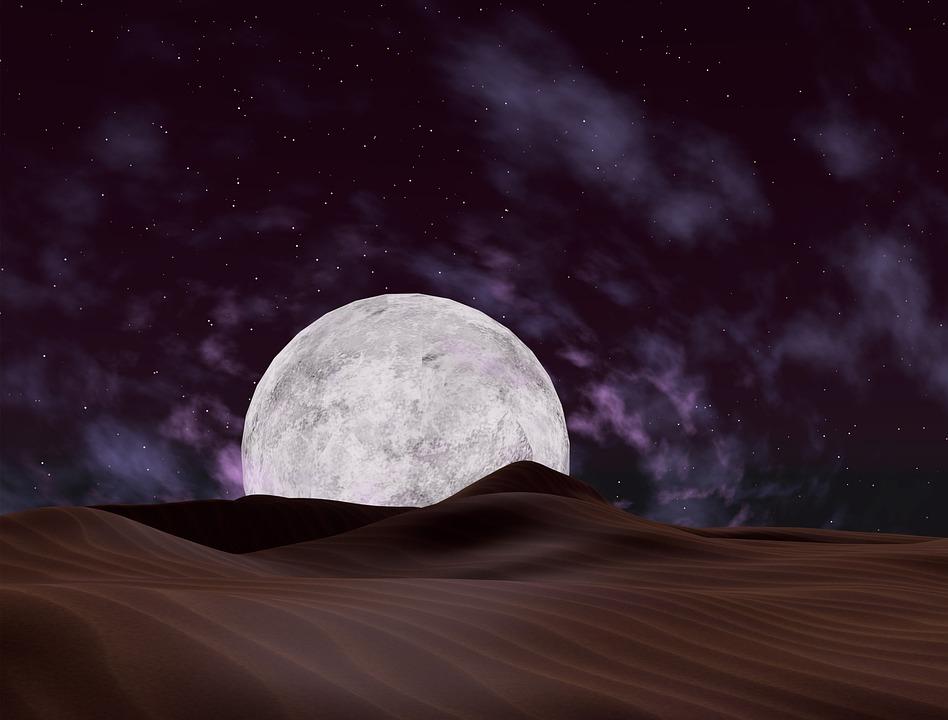 Resultado de imagen de noche en el desierto