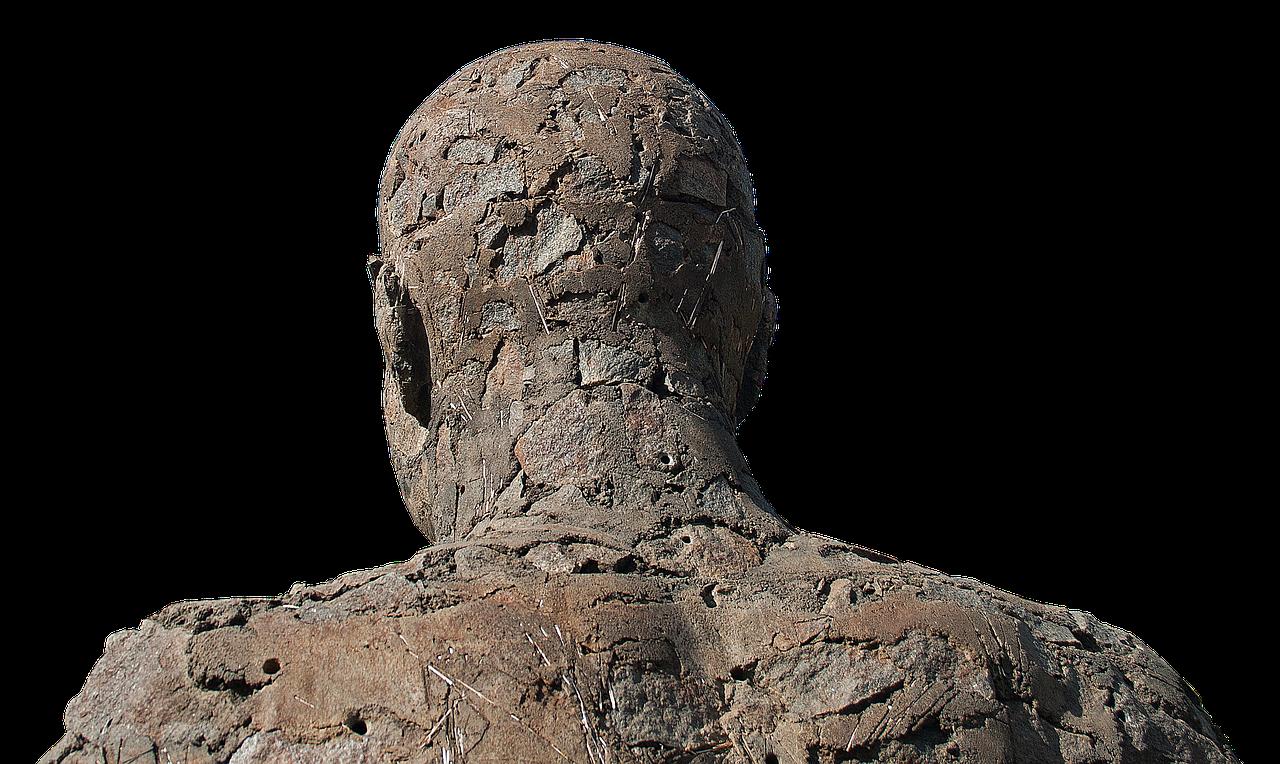 Картинка человека с камнем