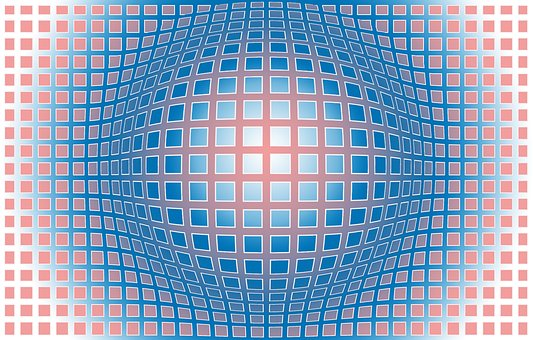 Graphique, 3D, Boule, Vasarely, Vasarely