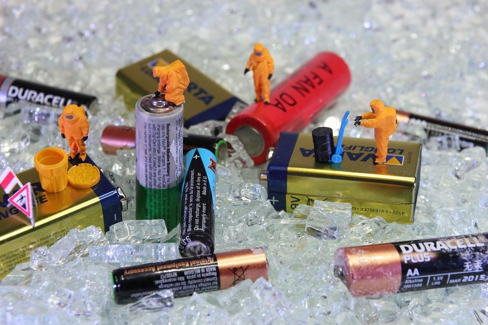 回收, 电池, 微型数字, 电源, 能源, 处置, 环境, 可持续性, 当前, 电压, 工作的衣服, 防护设备