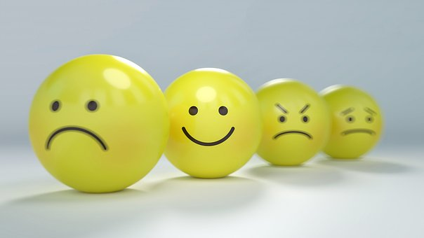 Smiley, Emoticon, Anger, Angry, Anxiety yellow balls with facial expressions