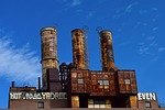factory, industrial, rusty