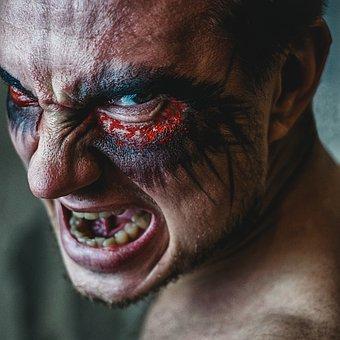 Daemon, Grin, Man, Portrait, Succubus
