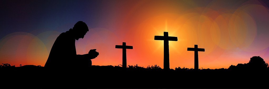 Cross, Sunset, Humility, Devotion