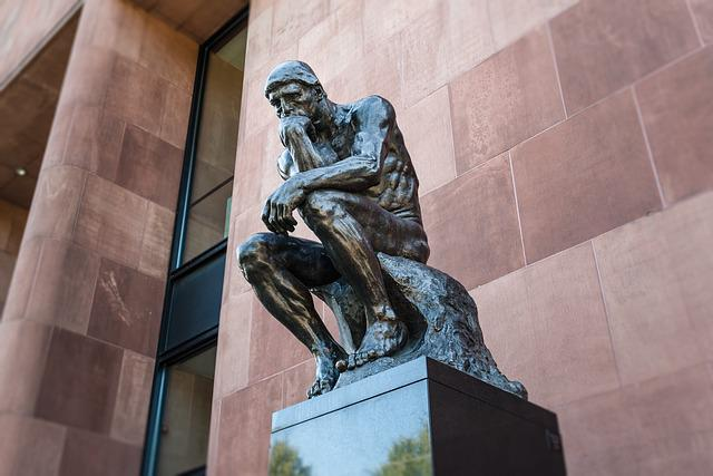 Art, Thinker, Sculpture, Bielefeld, Thinking, Human