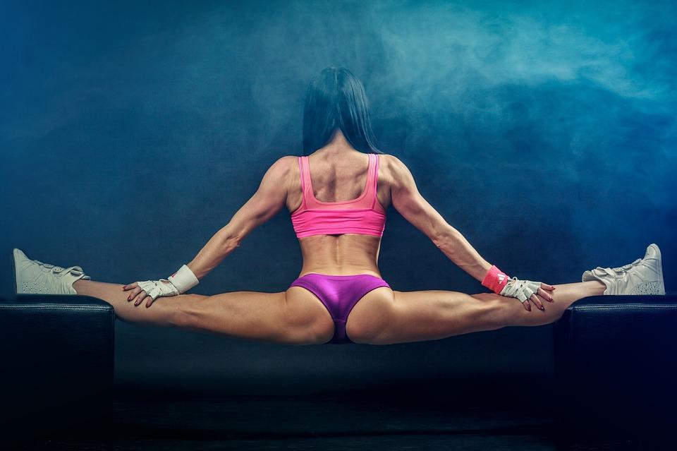 Kobieta, Split, Mięśnie, Mięśni, Dopasowanie, Fitness