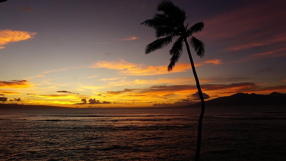Maui, Auringonlasku, Havaiji, Luonto, Maisema, Meri