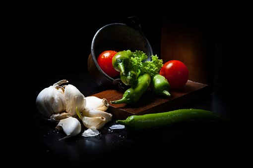Dark Mood Food, Légumes, Lichtspiel