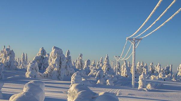 Laponie, Hiver, La Neige, Hivernal
