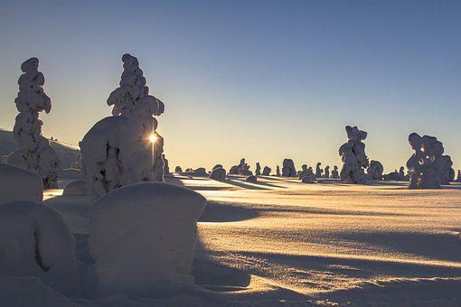 Laponie, Hiver, Jeris, La Neige, Paysage