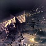 guitar, water