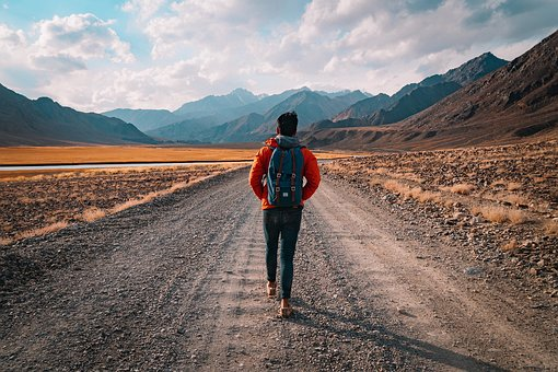 Walk, Landscape, Road, Holiday, Man