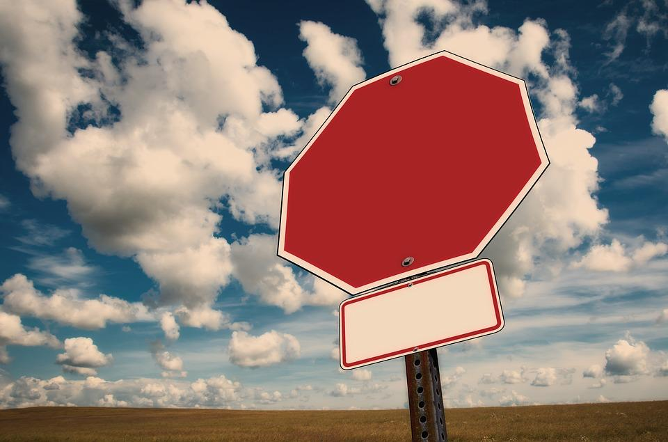 Stop, Stop Sign, Clouds, Traffic, Road Sign, Containing