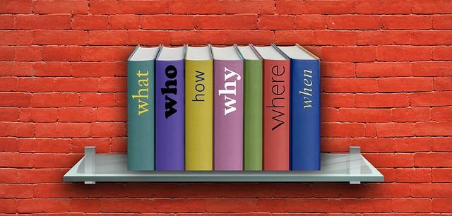 誰, どのように, 何, どこ, なぜ, 時, 質問, 棚, 書籍, 本棚, 抽象的な, 配置, 事故