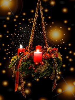 出現, クリスマスの時期, アドベントの花輪, 2Advent