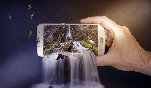 Cascadas, Teléfono, Smartphone