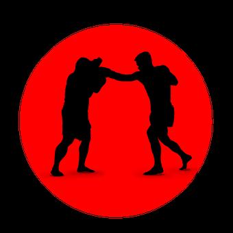 ボクシング, アイコンを, シルエット, スポーツ, 戦闘機, 戦い