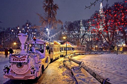 Viena, Mercado De Navidad, Rathauspark