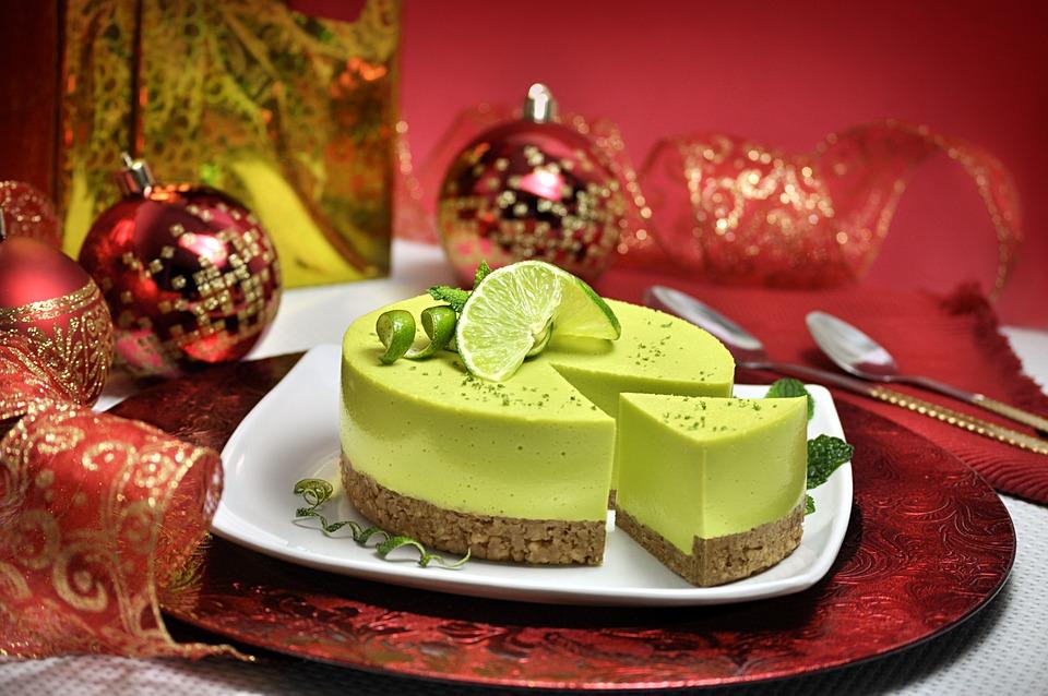 Noël, Pied De Citron, Citron, Rouge, Décoration, Plat