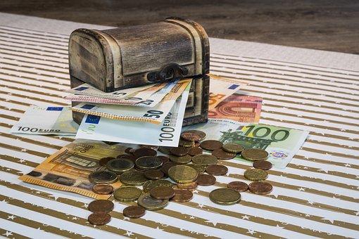 Geld, Geldscheine, Münzen, Euro, Schatz