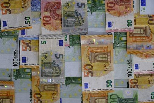 Geld, Bankbiljet, Munten, Euro, Besparen