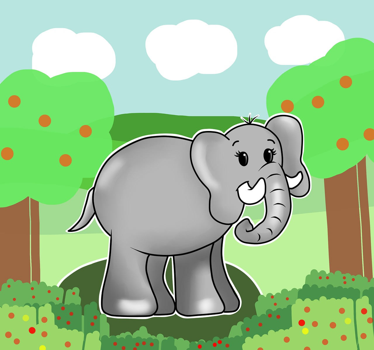 тех, картинки рисунки слоники история одного