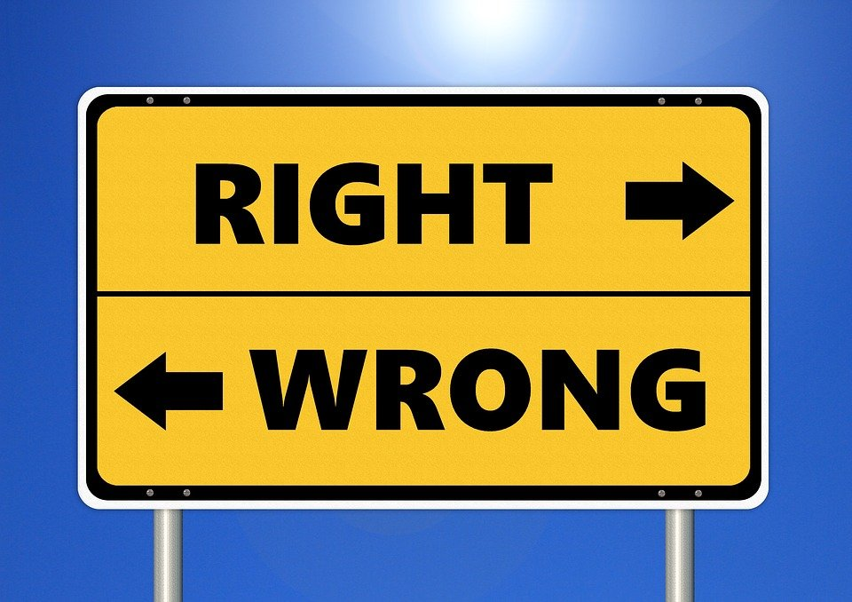 Sign on Right or Wrong