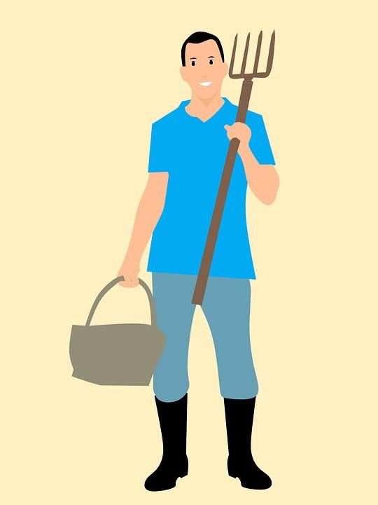 Petani Pitchfork Keranjang Gambar Gratis Pixabay Karakter Kartun Ide Pekerjaan