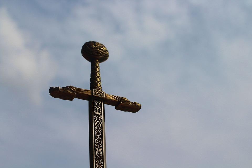 Sword, Epic, Fantasy, Celtic, Sword Against The Sky