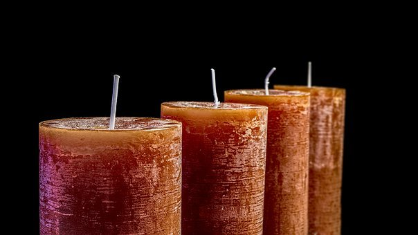 Candles, Christmas, Greeting Card