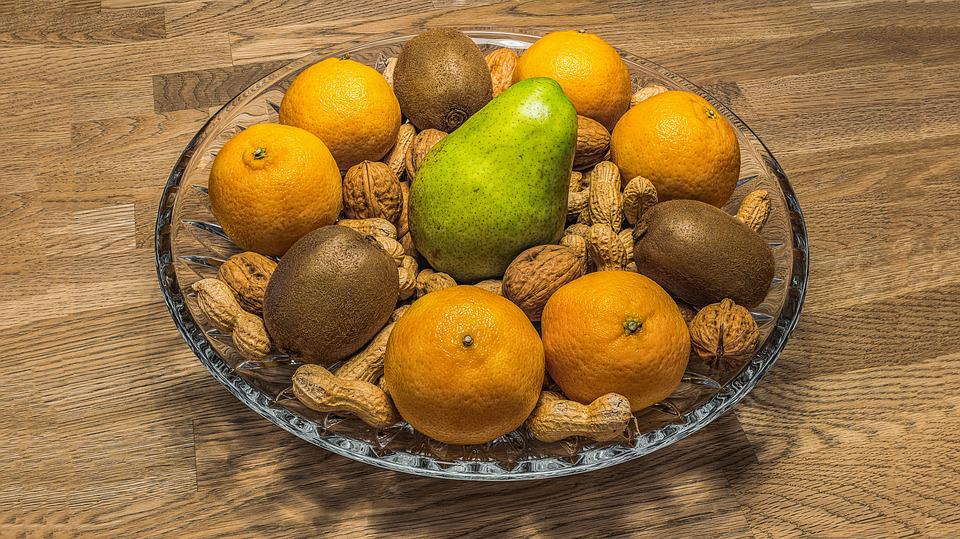 Nuts and citrus fruits on Dog Food