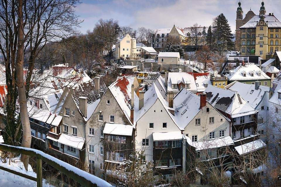 Landsberg, Winter, Snow, Roofs, Outlook