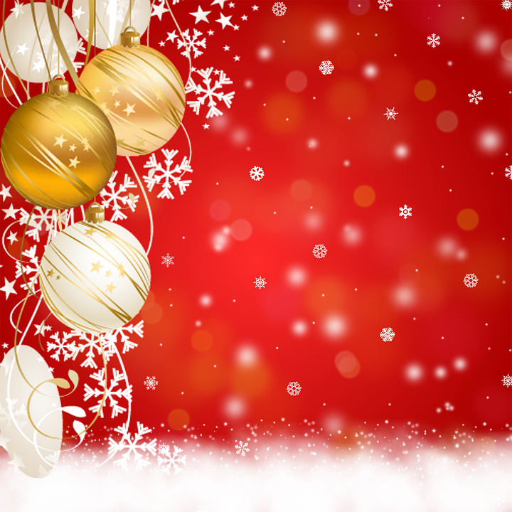 Background Christmas Ornaments Congratulation