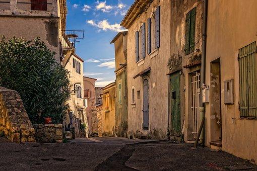 胡同, 历史中心, 历史, 老, 法国, 架构, 老建筑, 老房子, 正面, 空