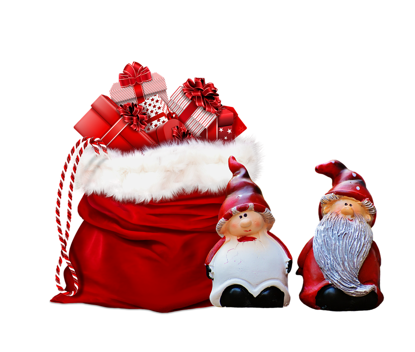 xmas presents gifts grnomes bag christmas cute - Xmas Presents