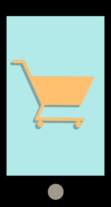 Smartphone, Shopping, Shopping Cart, Online Shop