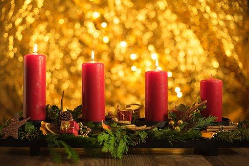 Advent, Dritter, Weihnachten, Kerzen