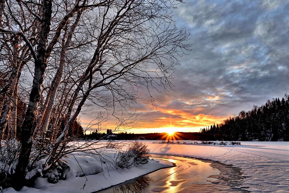 Winter Landscape Sunset Twilight · Free photo on Pixabay