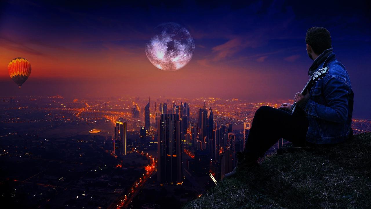 картинки человек на фоне ночного города эвкалипта смело можно