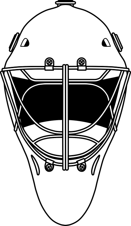 Hockey Goalie Helm Free Vector Graphic On Pixabay