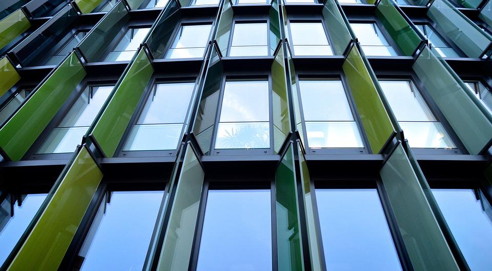 office facade. Window Office Facade Architecture Sunscreen