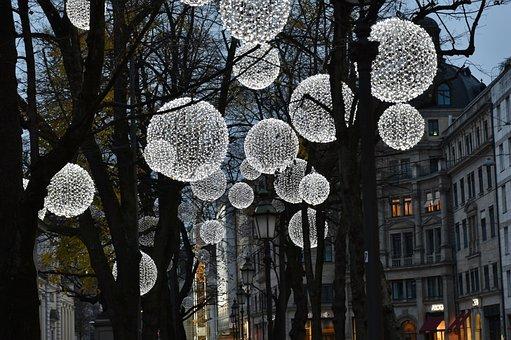 Light, Lamps, Evening, Shining, Lighting