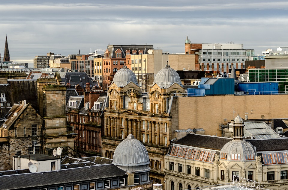 Glasgow, Scotland, City, Tourism, Above The City, Roofs