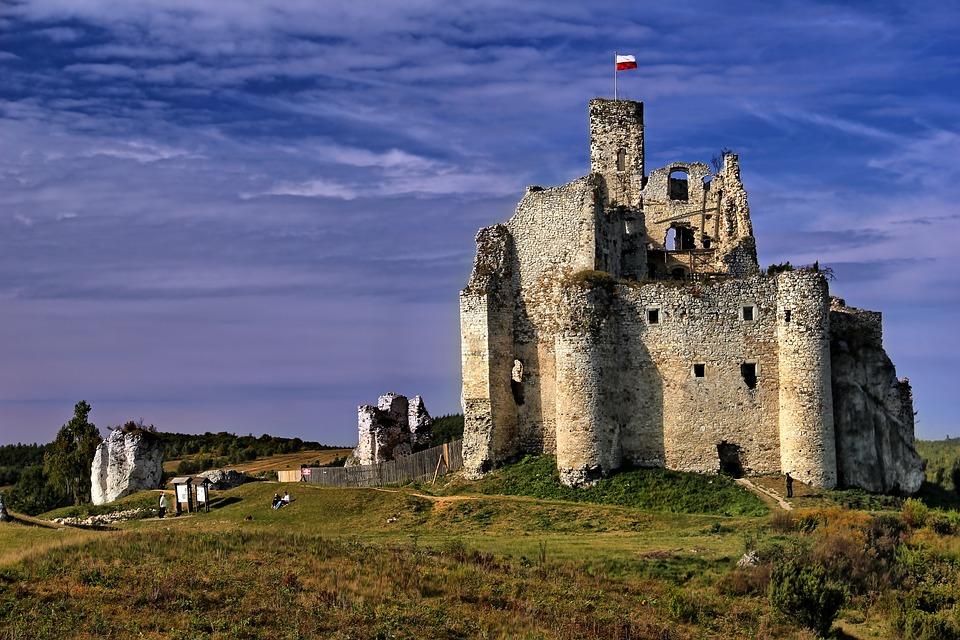 Zamek, Mirów, Zamek W Mirowie, Zabytek, Polska, Ruiny