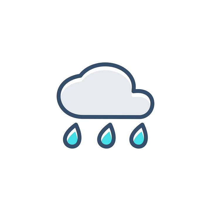 Bulut Yagmur Simgesi Pixabay Da Ucretsiz Vektor Grafik