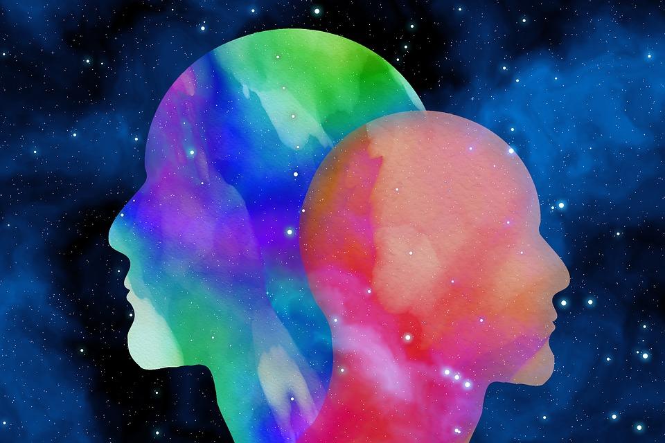 ศีรษะ, สีน้ำ, พื้นหลัง, ย้อมสี, จิตวิทยา, ช่องว่าง