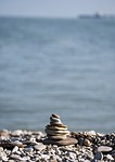 stone, beach