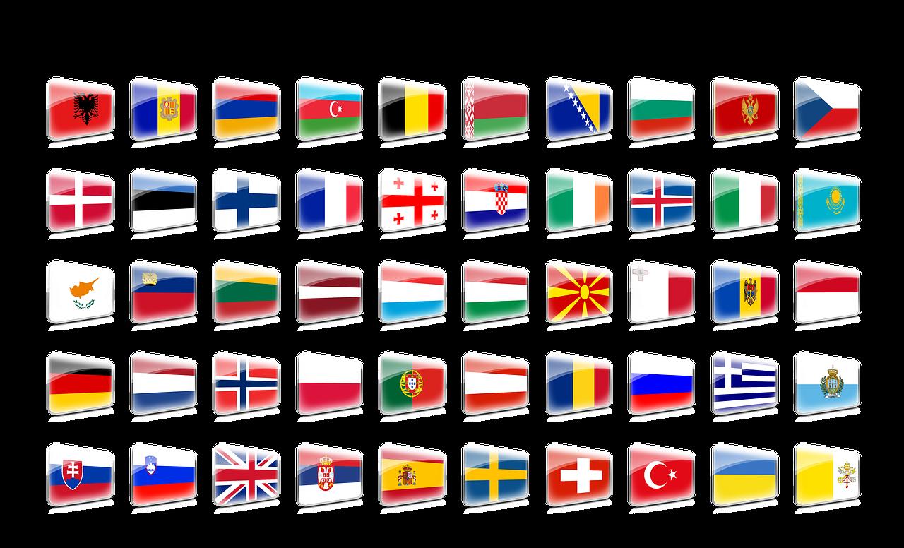 двухэтажные флаги всех европейских государств в картинках правильно