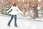 ice skating, ice skater, winter