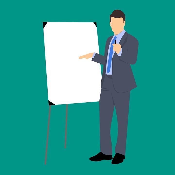 confident businessman presentation free image on pixabay